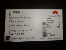 Morrissey Used Concert Ticket Royal Albert Hall March 2018