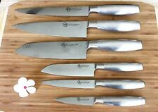 NEW Japanese Damascus VG-10 Steel Chef Santoku Knife set 6 PCs vs Ran Shun