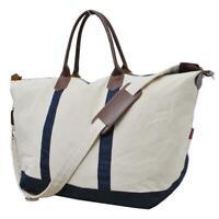 NGIL Canvas Navy Overnight Duffle Weekender Travel Bag Free Shipping