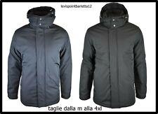 giubbotto giubbino giaccone da uomo taglie forti invernale elegante nero blu 4xl