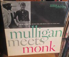 THELONIOUS MONK*GERRY MULLIGAN mulligan meets monk UK RIVERSIDE MONO VINYL LP