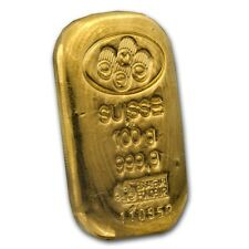 100 gram Gold Bar - PAMP Suisse (Cast, w/Assay) - SKU #45792