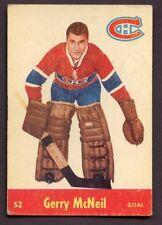 1955-56 Parkhurst # 52 Gerry McNeil