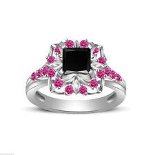 Diamond Princess Wedding Sterling Silver Fine Gemstone Rings