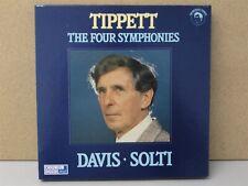 414 091-4 CHROME- TIPPETT - The Four 4 Symphonies SOLTI DAVIS Cassette 3 x Tapes