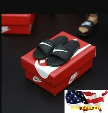 "1/6 scale Nike Slides Sandals Slippers shoes / hot toys phicen 12"" figure ❶USA❶"