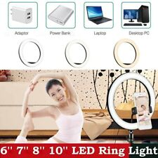 Kshioe LED Ring Light with Camera Tripod Stand & Phone Holder Ringlight Kit US