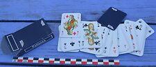 Petit jeu de 52 cartes compagnie aérienne UTA, étui bleu, complet, vintage,