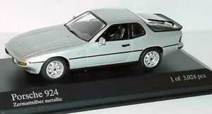 Porsche 924 Silver 1984 1/43 DIECAST MODEL CAR BY MINICHAMPS 400062121