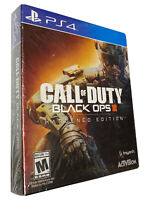 Call Of Duty Black Ops 3 III Hardened Edition Steelbook and Game PS4 RARE HTF