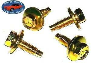 64-72 GM GTO Judge 442 Chevelle GSX Rear Trunk Deck Lid Hinge Bolts 4pc set FZ