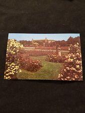 Armillary Sundial Amidst Rose Bloom Hershey Rose Garden - Old Postcard 52560