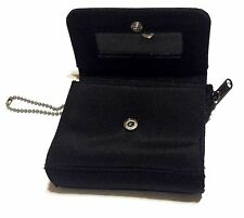 Black Coin Change Purse Wallet With Mirror and Keychain - Free Shipping