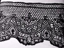 tissu dentelle fine noir  Chantilly calais ?50x27cm ♥