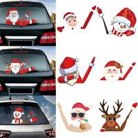 Christmas Waving Santa Claus Window Stickers Car Rear Wiper Decals Xmas Decor