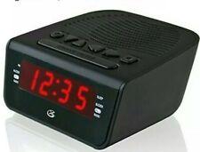Gpx C224B Dual Alarm Clock Am/Fm Radio with Red Led Display Black New In Box