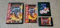 Mega Turrican Sega Genesis Data East Complete CIB Case Manual Box Poster lot !!!