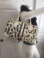 L.A.M.B. Gwen Stefani Mandeville White Leopard Print Large Tote Doctor Handbag