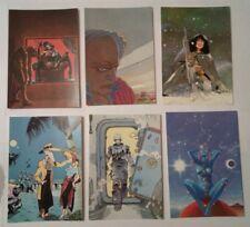 6 carte postale Nicollet Schuiten Crespin Ben Radis Bilal Caza Métal Hurlant