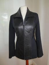 Schwarzer Blazer mit Leder von Apart, Gr. 36, wenig getragen