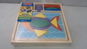 LOT OF 5 - Melissa & Doug Classic Toy Beginner Patter Blocks