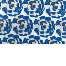 Blue and White Roses on Soft Cotton Voile - from Designer Thakoon! Also in Knit