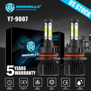 4-sides 9007 LED Headlight Hi/Lo Bulbs for Ford F-150 1992-2003 F-250 1992-1999