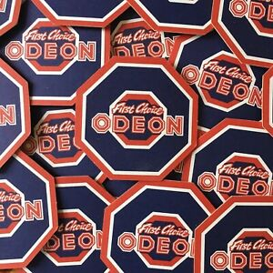 Vintage Odeon Cinema First Choice Beer Mat Movie Theatre Lot Drinks Coaster New