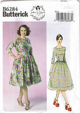 Vintage 50s Glam Retro Dress Full Skirt Sewing Patterns by Gertie 6 8 10 12 14