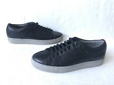 Hugo Boss Futesio Black Leather Sneakers.