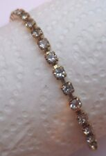 Superbe bracelet bijou vintage plaqué or cristal diamant 2472