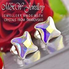 925 Orecchini a Perno Argento Twister CRYSTAL AB 10.5mm cristalli di Swarovski ®