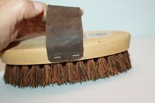 Wright Bernet Cowboy Animal Grooming Brush. No. 2255. All Leather Handle.