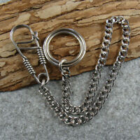 Stainless Steel Fob Pants Keychains Keyrings Holder Bag Wallet Chain Key Chains
