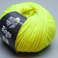 Lana Grossa Bingo 701 neon gelb 50g  (9.90 EUR pro 100 g)