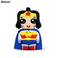Cartoon Wonder Woman model USB 2.0 Memory Stick Flash pen Drive 8G/16G/32G/64G