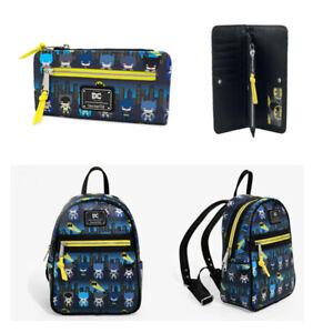 Hot LOUNGEFLY X DC Comic Batman Gotham 80th Anniversary Wallet & backpack