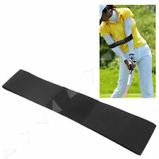 Black Golf Swing Power Band Training Aid Training Straight Practice Elbow Brace