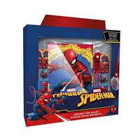 Set Artículos de Papelería Niños Oficial Marvel Spiderman Material Escuela 2032