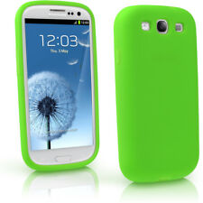 Green Silicone Skin Case for Samsung Galaxy S3 III i9300 Android Cover Holder