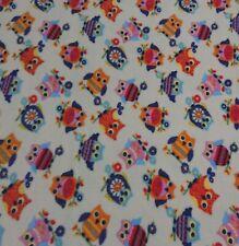 Fleece Patterned-Owls 150cm Wide Fleece dress fabrics craft fabrics fleece throw