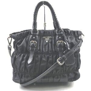 Prada Hand Bag  Black Nylon 1903173