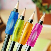 4x Soft Silicone Kids Child Handwriting Aid Rubber Pen Topper New.