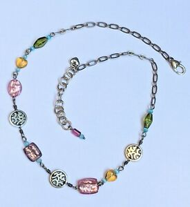Brighton Barbados Glass Bead Silver Plated Beaded Necklace