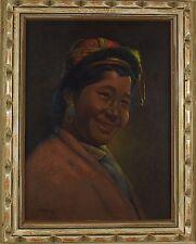 Goray Douglas (Indian,1920-1976 ) Original Oil Painting Signed