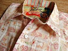 ROBERT GRAHAM SQUARE PAISLEY MENS EMBROIDERED DESIGNER CASUAL SHIRT SIZE: L RARE
