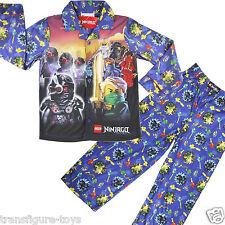 new boys Lego Ninjago Ninja flannel pyjama pjs kids sleepwear size 3-8 AU stock