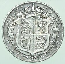 More details for scarce 1912 george v halfcrown, british silver coin vf