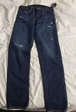 NWOT Abercrombie Mens Dark Jeans 32×34 The Classic Taper