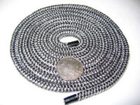 6mm BLACK STOVE ROPE – QUALITY GLASS FIBRE ROPE SEAL LAGGING WOOD BURNER OVEN